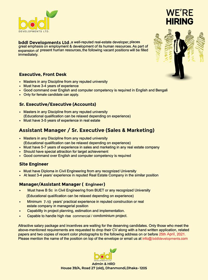 Bddl Developments Ltd. Job Circular 2021
